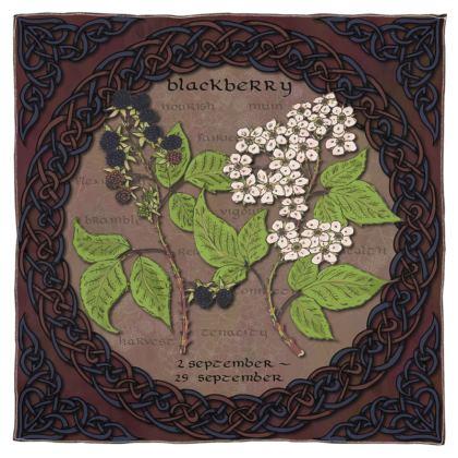 Tree Calendar Blackberry Scarf, Wrap or Shawl
