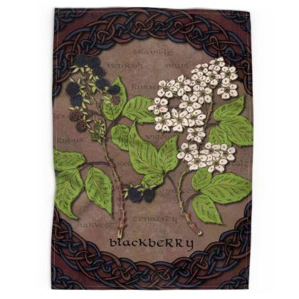 Celtic Blackberry Tea Towel