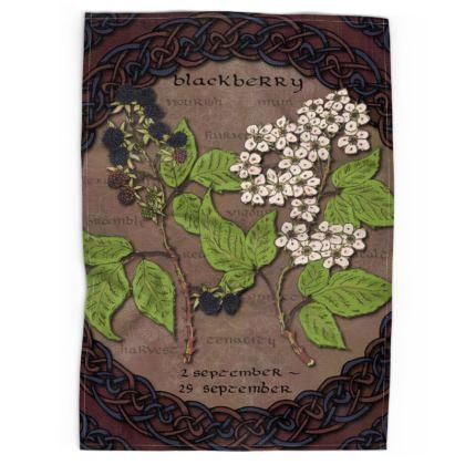 Tree Calendar Blackberry Tea Towel