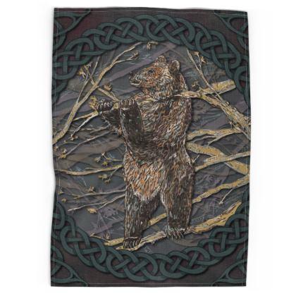 Celtic Bear Tea Towel