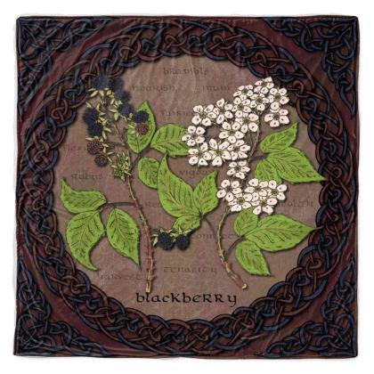 Celtic Blackberry Throw Blanket