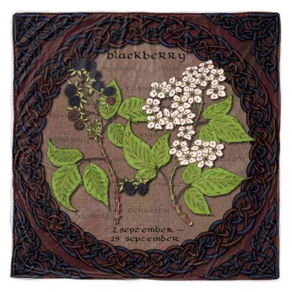 Tree Calendar Blackberry Throw Blanket