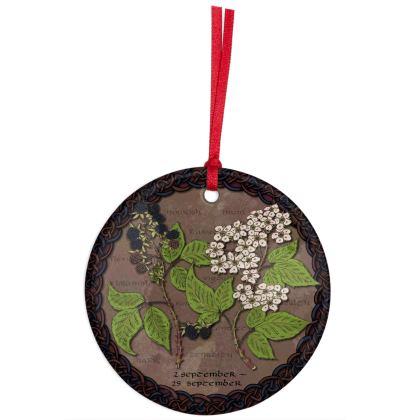 Tree Calendar Blackberry Hanging Ornament