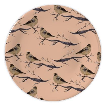 Woodland Bird China Plates