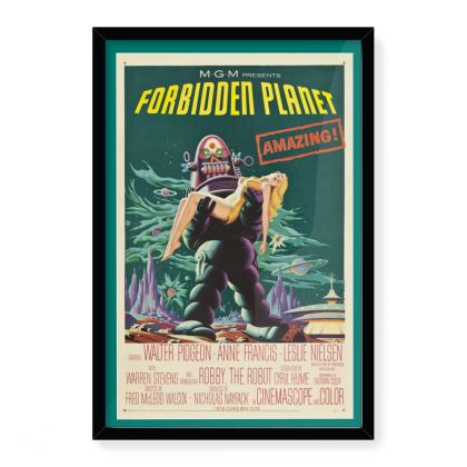 "Vintage ""Forbidden Planet"" Movie Poster Art"