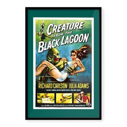 "Vintage Movie Art Print ""Creature From The Black Lagoon"""