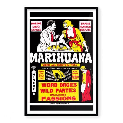 Vintage Anti-Marijuana Premium Art Print