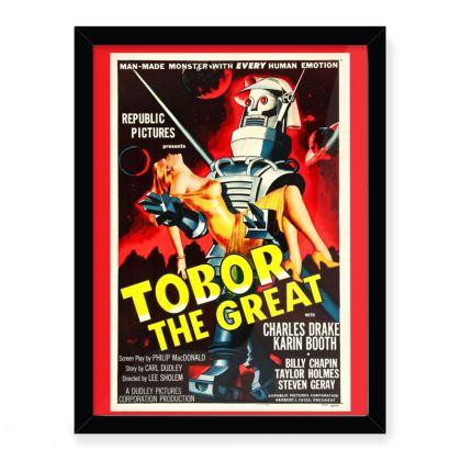 """Vintage 'B' Movie """"Tobor The Great"""" Movie Art Print"""