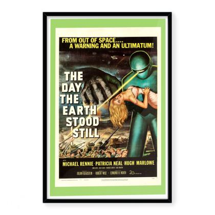 """Vintage Movie Art Print """"The Day The Earth Stood Still"""""""