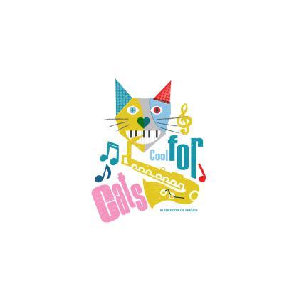 COOL FOR CATS MAXI BEACH TOWEL DESIGN 1
