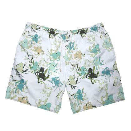 Sea Life Collection (Octopus - Green) - Luxury Mens Swimming Shorts