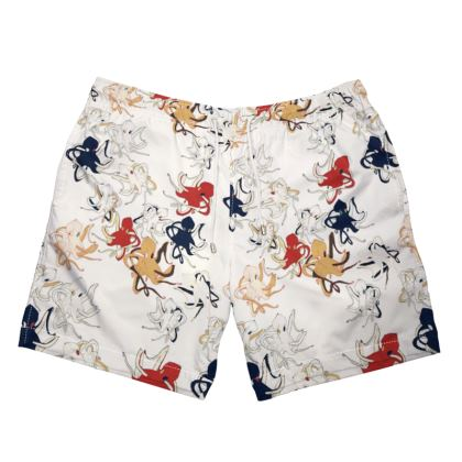 Sea life collection (Octopus - Yacht Club) - Luxury Mens Swimming Shorts