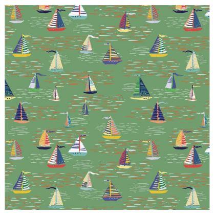 Regatta Collection (Boats - Green) - Luxury Mens Swimming Shorts