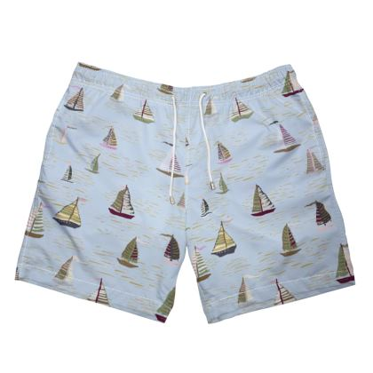Regatta Collection (Boats - Blue Heritage) - Luxury Mens Swimming Shorts