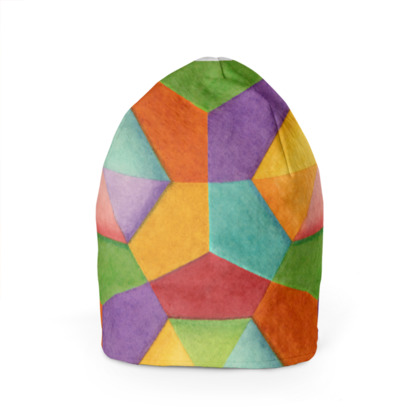 Rainbow Hexagons Beanie
