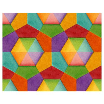 Rainbow Hexagons Espadrilles