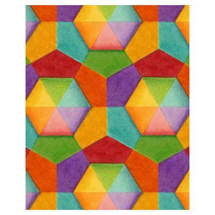 Rainbow Hexagons Hoodie