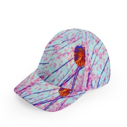 Ditsy Digi Poppy Baseball Cap