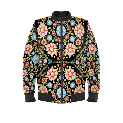 Millefiori Floral Ladies Bomber Jacket