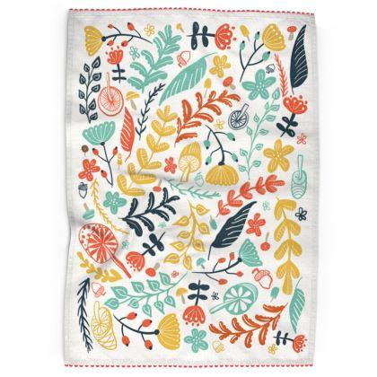 Forest Flora Tea Towel