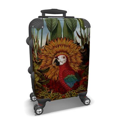 Tropical Parrot Suitcase