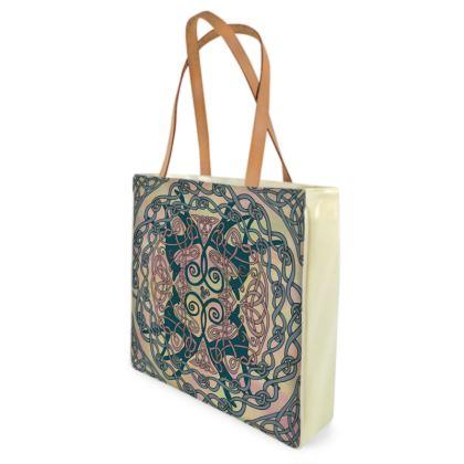 Art Nouveau Greyhounds (Pink & Cream) Shopper Bag