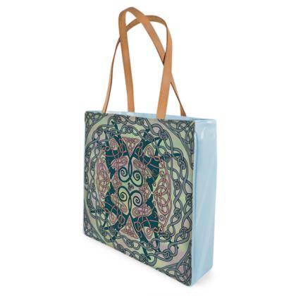 Art Nouveau Greyhounds (Pale Green) Shopper Bag