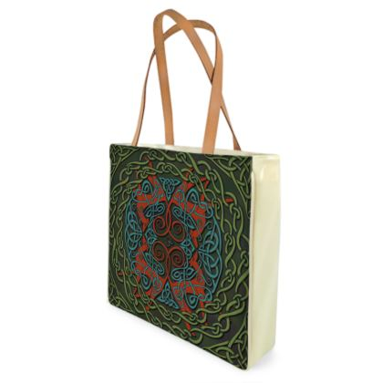 Celtic Greyhounds Shopper Bag (Red & Green)