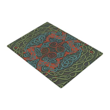 Celtic Greyhounds Chopping Board (Red/Green)