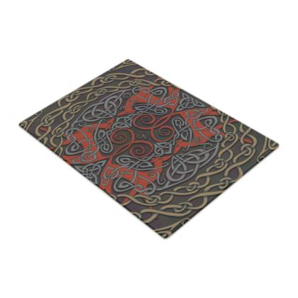 Celtic Greyhounds Chopping Board (Red/Dark Taupe)