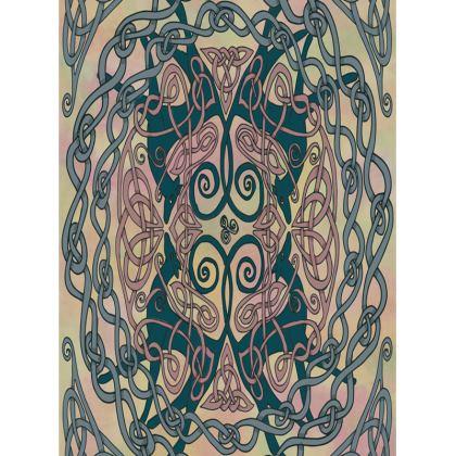 Art Nouveau Greyhounds Tray (Pink/Cream)
