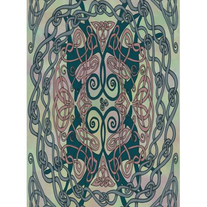 Art Nouveau Greyhounds Tray (Pale Green)
