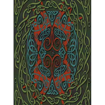 Celtic Greyhounds Tray (Red/Green)