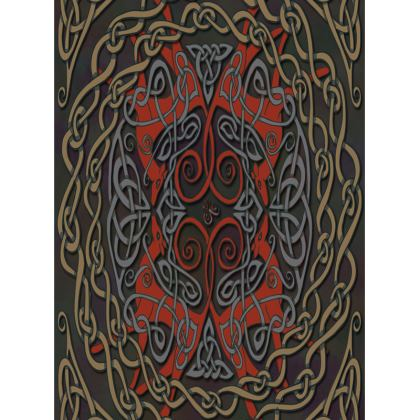 Celtic Greyhounds Tray (Red/Taupe)
