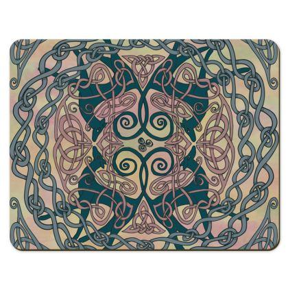Art Nouveau Greyhounds Placemats (Pink/Cream)
