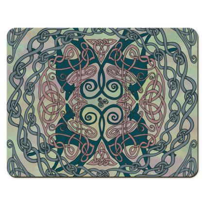 Art Nouveau Greyhounds Placemats (Pale Green)