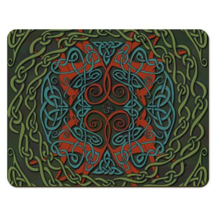 Celtic Greyhounds Placemats (Red/Green)