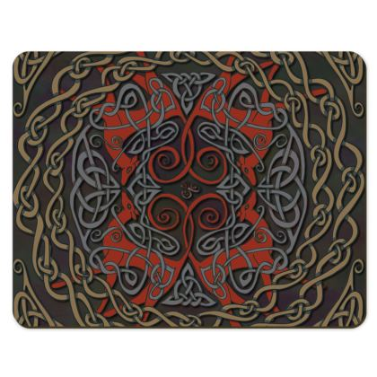 Celtic Greyhounds Placemats (Red/Taupe)