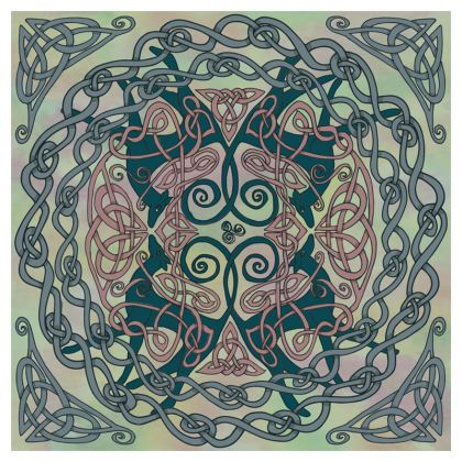 Art Nouveau Greyhounds Coasters (Pale Green)