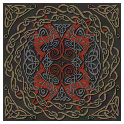 Celtic Greyhounds Coasters (Red/Taupe)