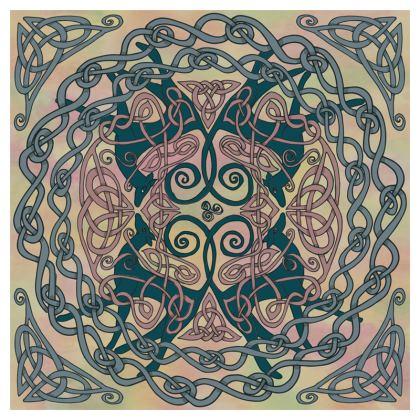 Art Nouveau Greyhound Cushion (Pink/Cream)