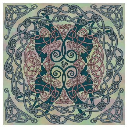 Art Nouveau Greyhounds Cushion (Pale Green)