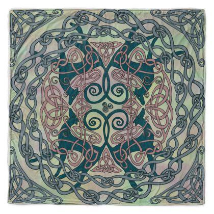 Art Nouveau Greyhounds (Pale Green) Throw Blanket