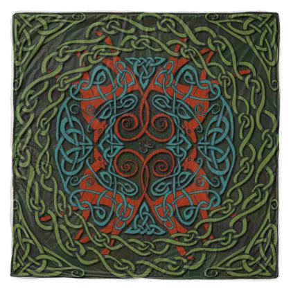 Celtic Greyhounds Thow Blanket (Red/Green)