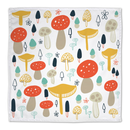 Forest Floral Mushrooms Napkins