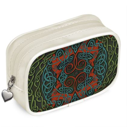 Celtic Greyhounds Pouch Purse (Red/Green)