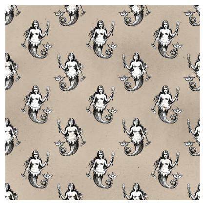 Mermaids Heraldic Ivory Deckchair.