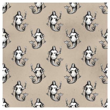 Mermaids Heraldic Ivory Double Deckchair.