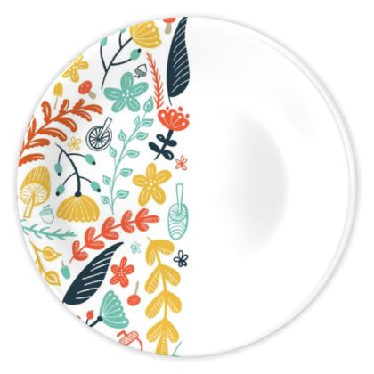 Forest Flora China Plate