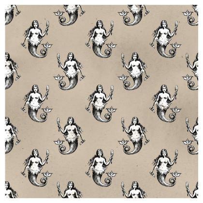 Mermaids Heraldic Ivory Towels.